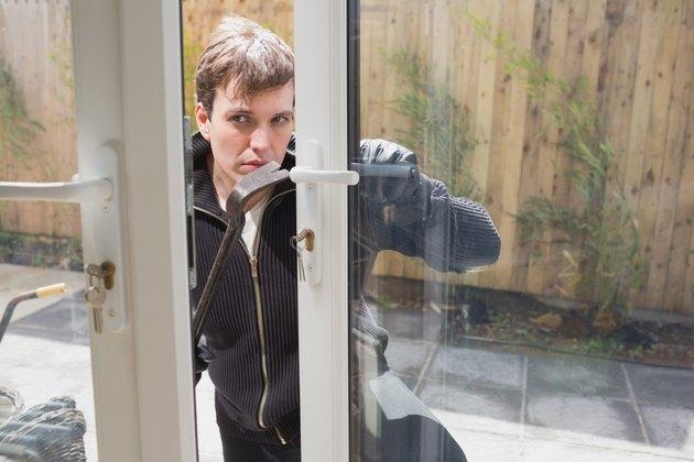 Burglar coming into home