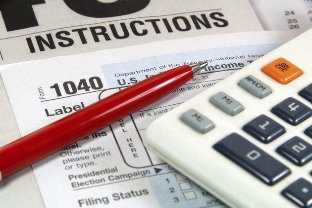 Tax Time Closeup