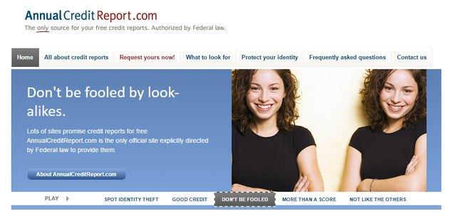 annual credit report screenshot
