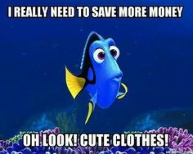 finding dory saving money