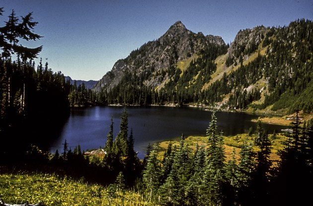 The place offers visitors forest, glacial lakes and a small costline