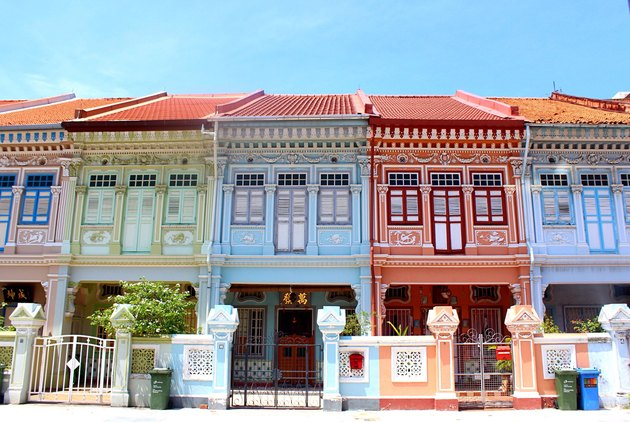 Colorful Asian-inspired row houses