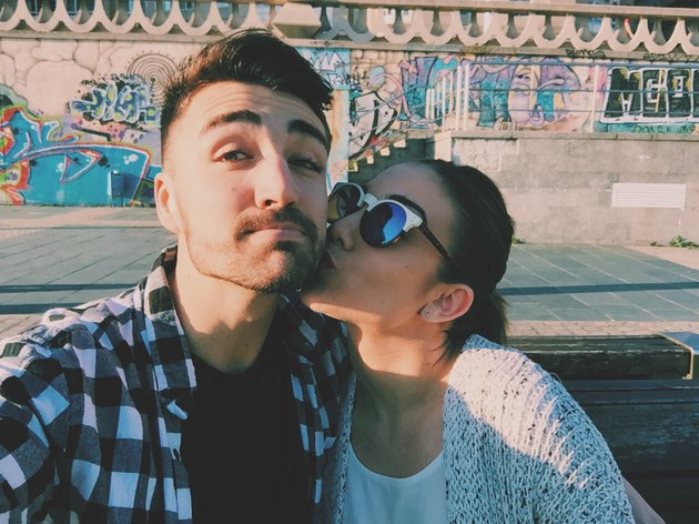 young couple selfie