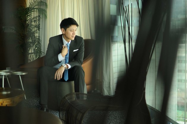Groom waiting in a room