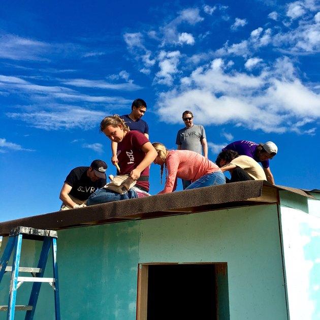 people on roof