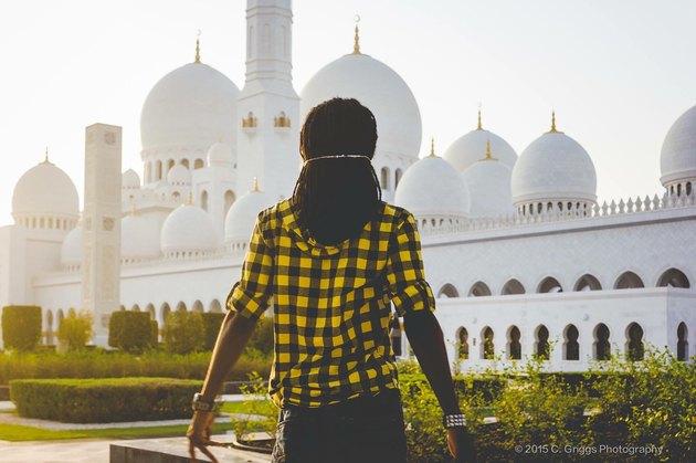 Black traveler in Abu Dhabi