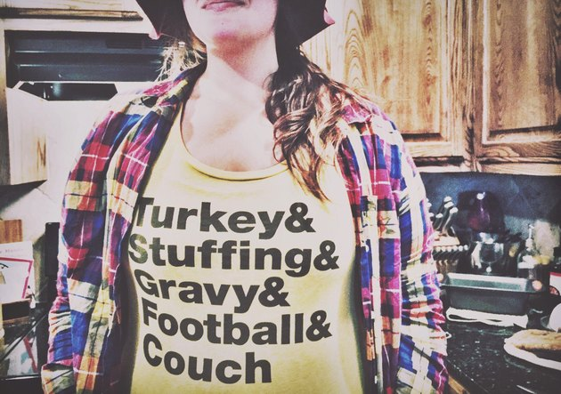 Ironic Thanksgiving hipster t-shirt