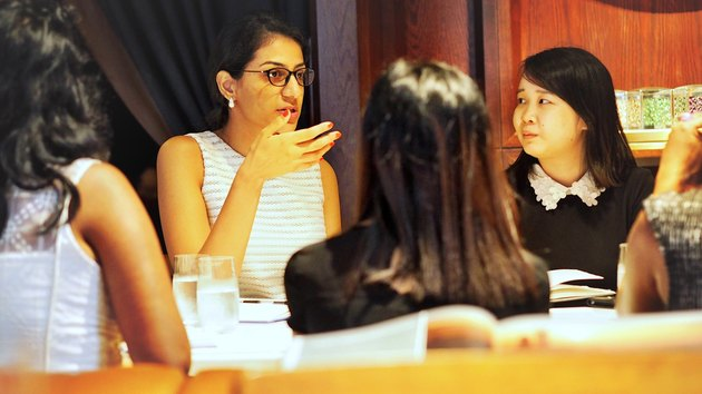 Diverse young professional women at business meeting