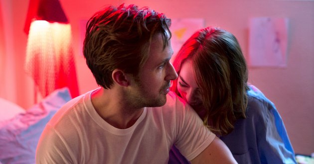 La La Land Emma Stone kissing Ryan Gosling