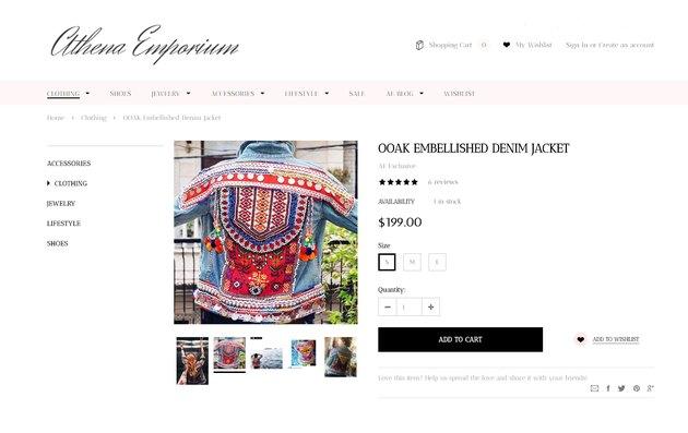 athena emporium embellished jean jacket