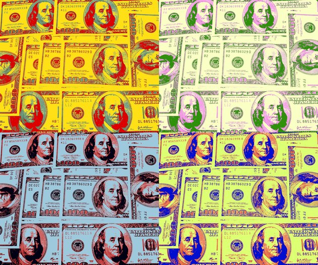 warhol style money