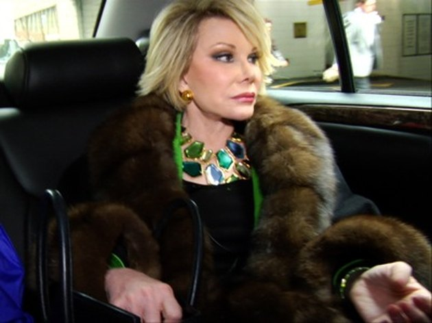 joan rivers in limo