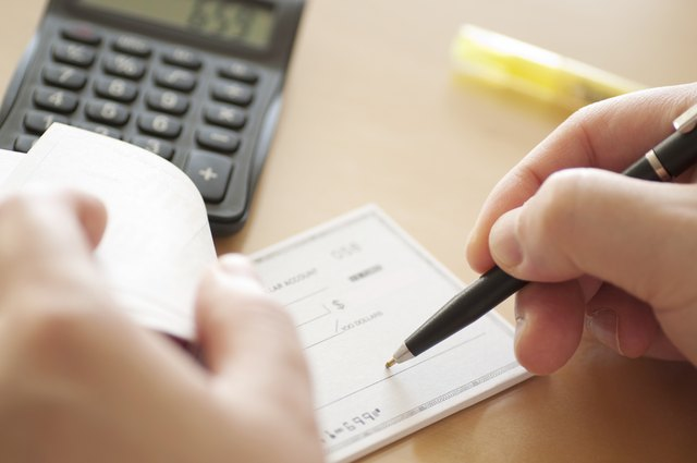 stepbystep how to write a check  sapling