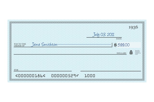 How to Write a Check With Dollars & Zero Cents | Sapling.com